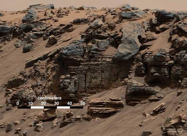 عکس تازه کنجکاوی از رسوبات نه نشین شده دریا باستانی مریخ